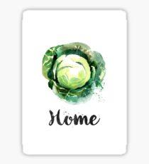 Cabbage. Home Sticker