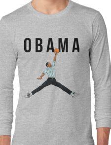 Obama Basketball Mashup Long Sleeve T-Shirt