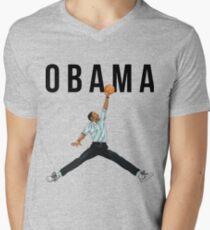 Obama Basketball Mashup Men's V-Neck T-Shirt