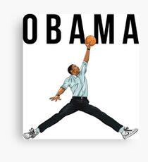 Obama Basketball Mashup Canvas Print