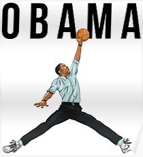 Obama Basketball Mashup Poster