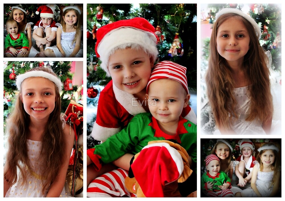 Christmas Collage - No. 2 by Evita