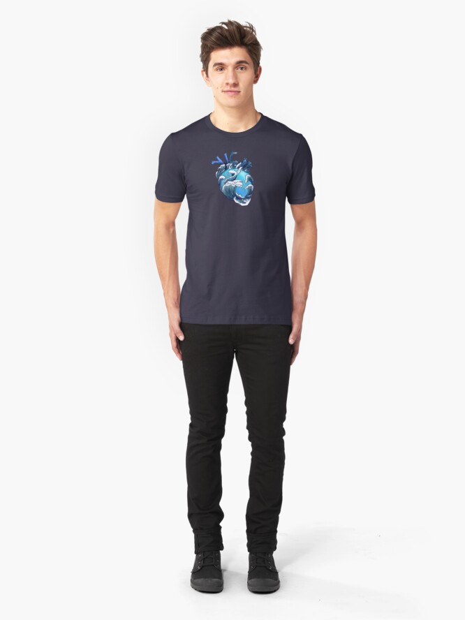 Alternate view of Beneath the Waves Slim Fit T-Shirt