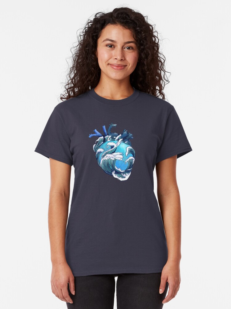 Alternate view of Beneath the Waves Classic T-Shirt