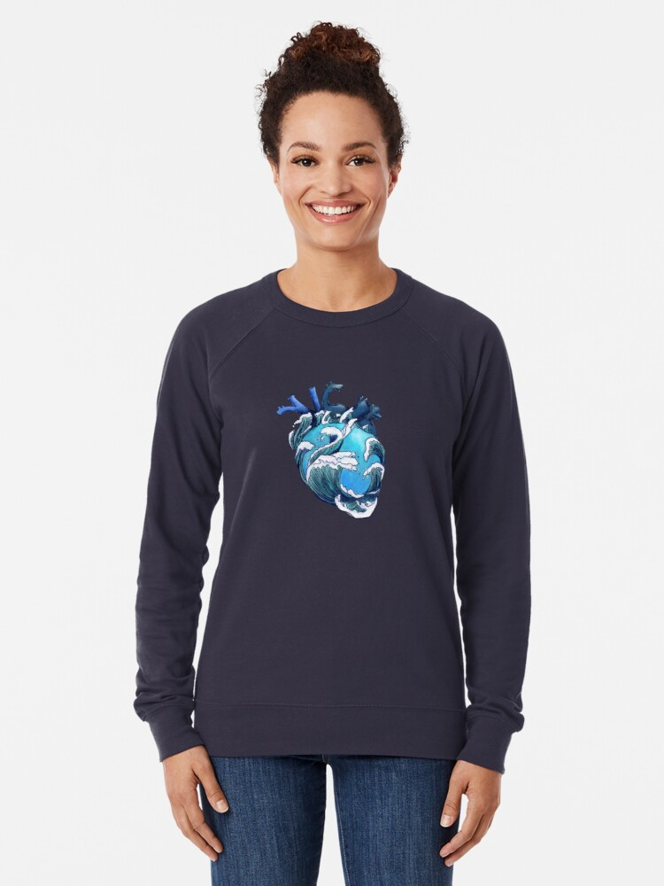 Alternate view of Beneath the Waves Lightweight Sweatshirt