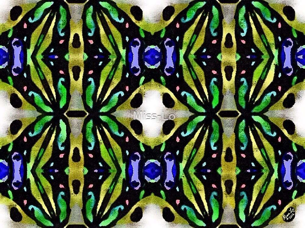 Blue Green Pattern #1 - 121315 by Miss-Lo