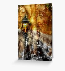 LampPost in Narnia Greeting Card