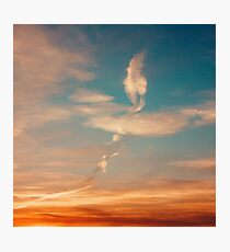 Sunset Sky with Beautiful Clouds Photographic Print