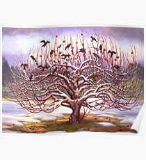 Apple Tree With Crows Poster
