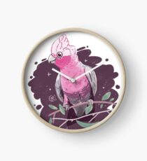 Pink & Grey Galah Clock