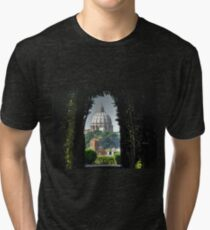 Vatican and St Peters LATEST VERSION Tri-blend T-Shirt