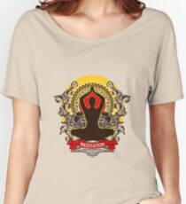 Meditation brings wisdom Women's Relaxed Fit T-Shirt