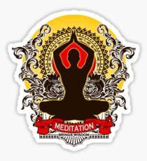 Meditation brings wisdom Sticker