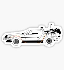 Delorean DMC Back to the Future Sticker