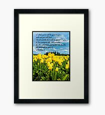 Bible Verse Matthew 7:7-8 Framed Print