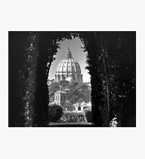 Vatican and St Peters Black & White Photographic Print