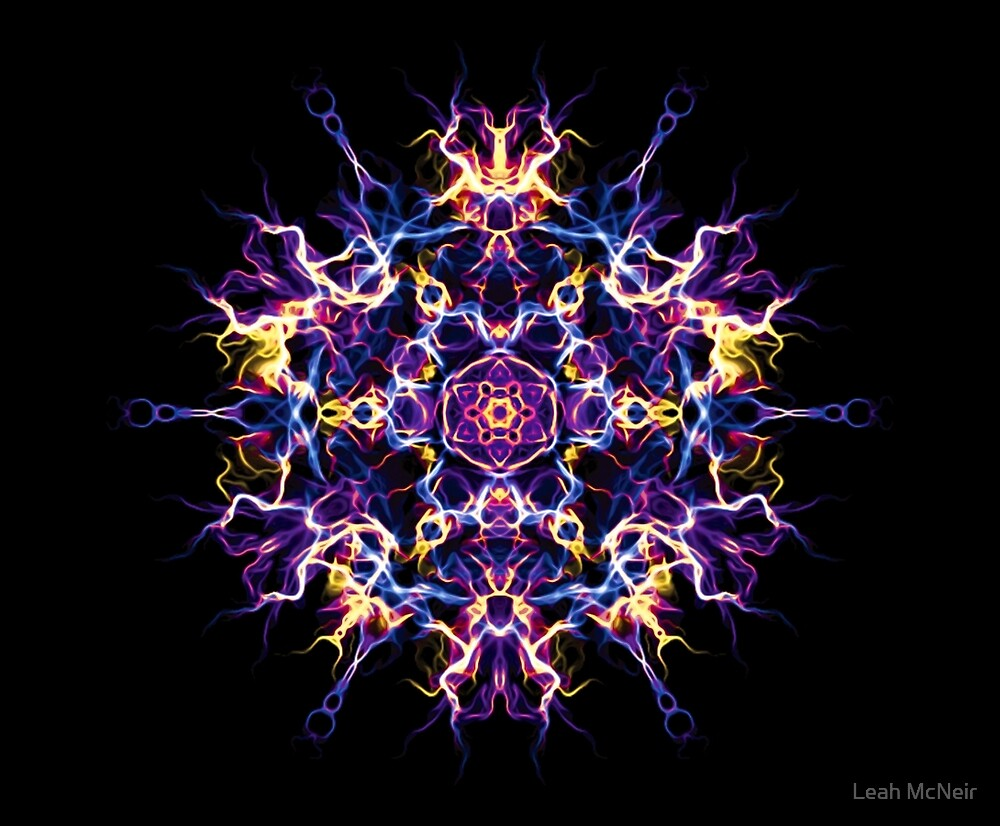 Creativity Quickening - Geometry Mystic Energy Mandala by Leah McNeir