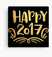 Cute Happy 2017 New Year Canvas Print
