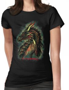 Dragonborn (Green Version) Womens Fitted T-Shirt