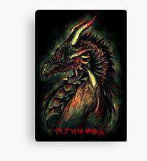 Dragonborn (Green Version) Canvas Print