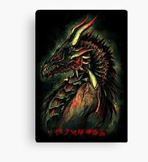 Dragonborn (Green Version) Canvas Print