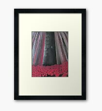 The DarkTower and the roses Framed Print