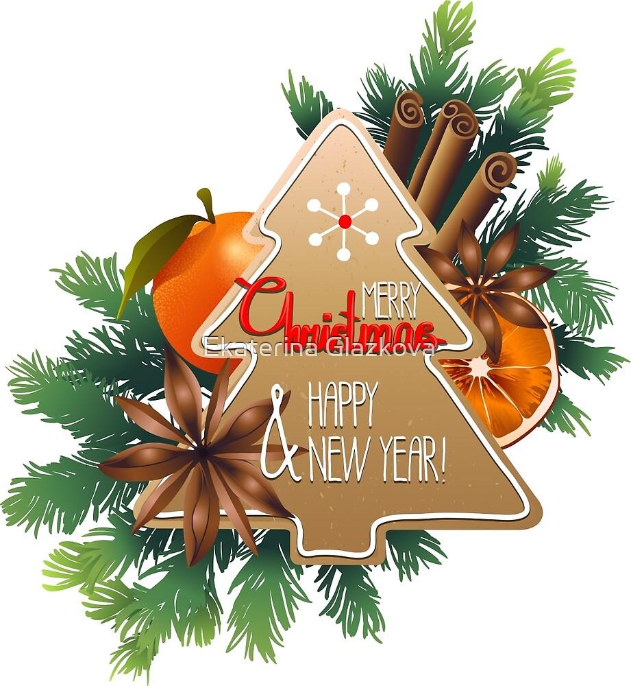 Christmas design by Ekaterina Glazkova