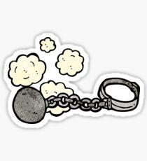 ball and chain cartoon Sticker