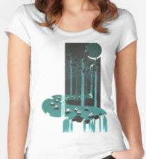 Hobbit illustration 6 Women's Fitted Scoop T-Shirt