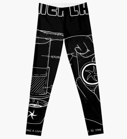 Cameralabs Photography and Coffee (White artwork) Leggings