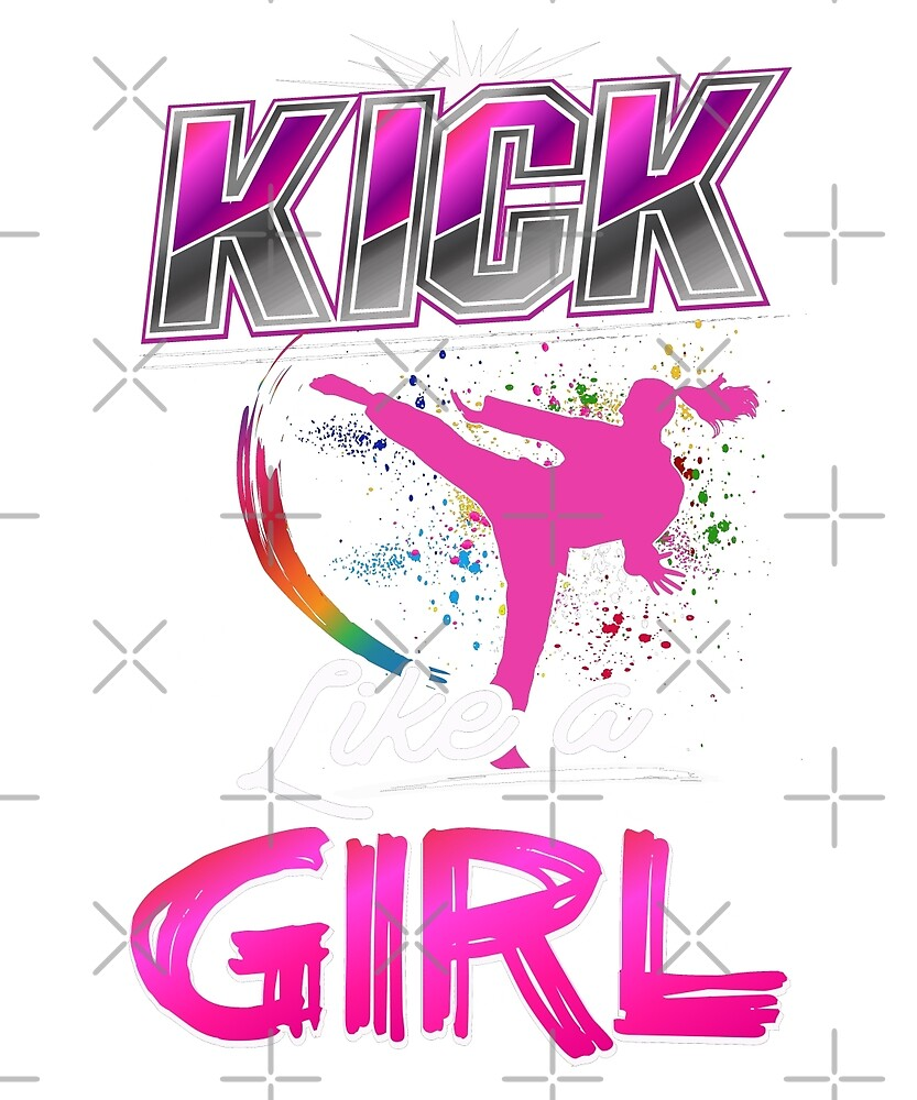 Kick Like A Girl Taekwondo Girls Quote Uniform Top by JapaneseInkArt