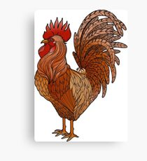 Graphic rooster  Canvas Print