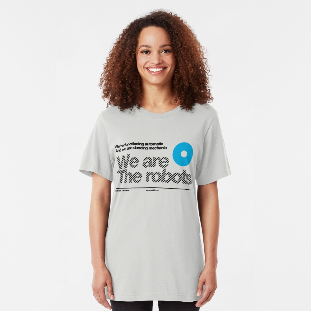 Womens We are the robots ///  Gift v-neck t shirt