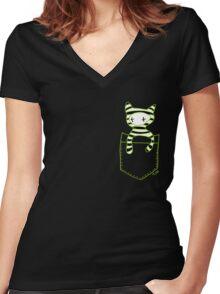 Pocketbuddy3 Women's Fitted V-Neck T-Shirt