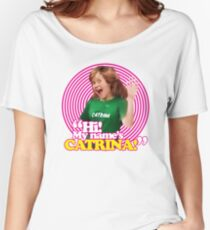 Hi! My name's Catrina - Pink Windmill Kids Women's Relaxed Fit T-Shirt
