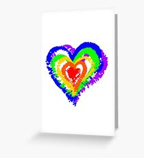 Rainbow Heart from brush strokes Greeting Card