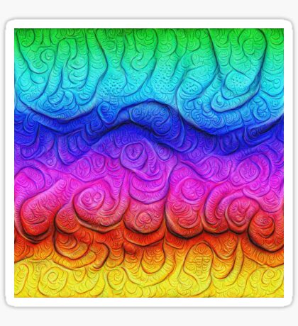 Color Foam levels #DeepDream Sticker