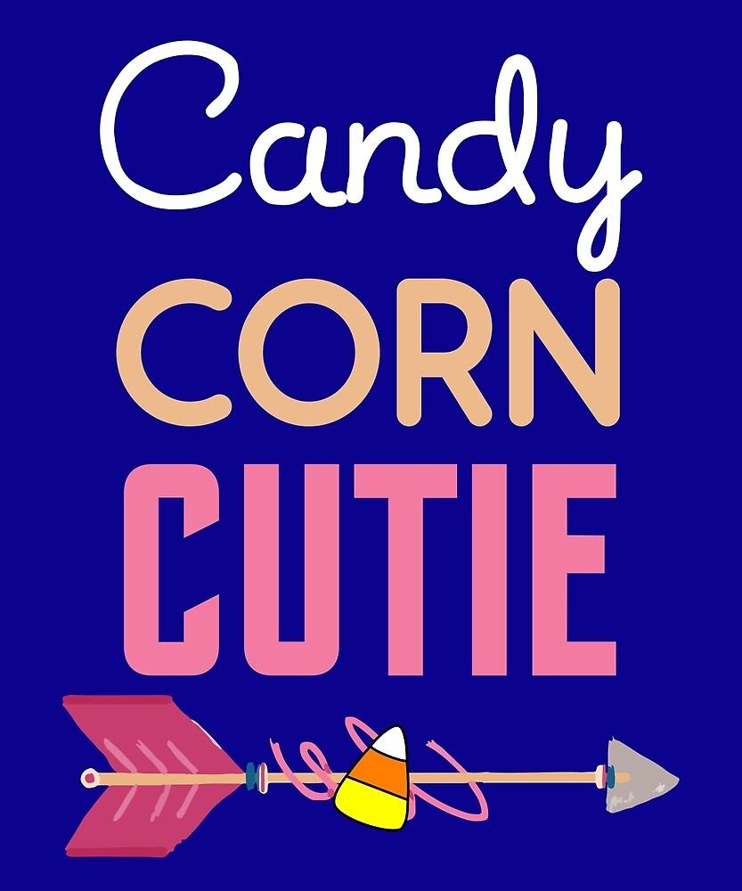 Candy Corn Cutie Cute Fun Easy Lazy Costume T-Shirt by AlwaysAwesome