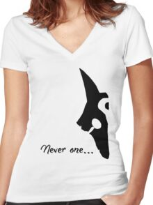 Kindred - Never one  Women's Fitted V-Neck T-Shirt