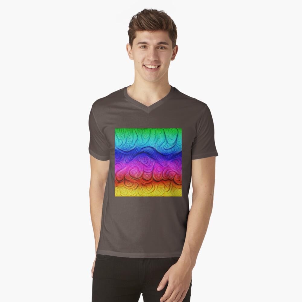 Color Foam levels #DeepDream V-Neck T-Shirt