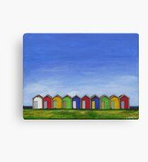 Blyth Beach Huts Canvas Print