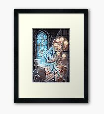 Silence in the Library Framed Print