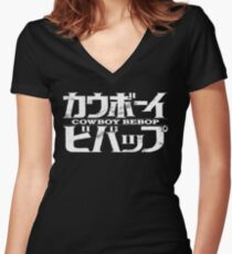 Cowboy Bebop logo Women's Fitted V-Neck T-Shirt