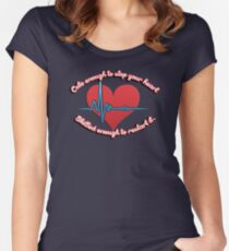 Cute enough to stop your heart, skilled enough to restart it Women's Fitted Scoop T-Shirt