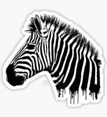 Zebra paint drip Sticker