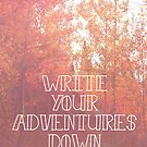 Write Your Adventures Down by Stephie Johnson