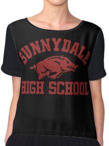 Sunnydale High Razorbacks Chiffon Top