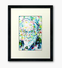 SIGMUND FREUD - portrait.1 Framed Print