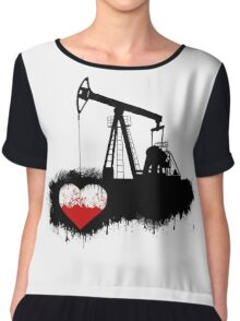 Heart drilling Chiffon Top