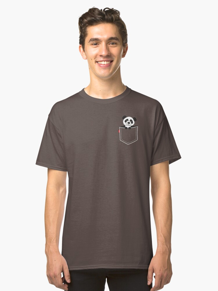 Panda in the Pocket Funny T Shirt Classic T-Shirt Front